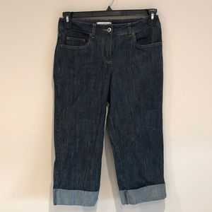 Coldwater Creek Cropped Cuffed Jeans